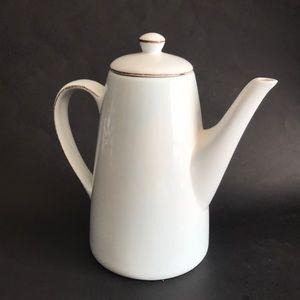 pottery barn morning story large coffee tea pot